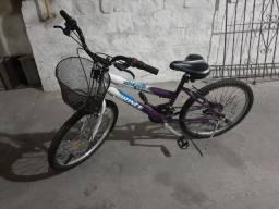 Bicicleta Feminina 18 marchas - Prince DX500 Aro 24 com cesto