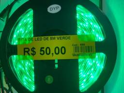 Título do anúncio: Chegou fita led cor verde 5 metros novo por 50 reais a unidade do rolo