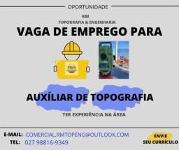 Título do anúncio: VAGA DE EMPREGO PARA AUXILIAR DE TOPOGRAFIA