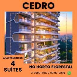 Título do anúncio: Apartamentos com 154m² no Horto Florestal, 4 suítes, 3 vagas - Cedro Horto