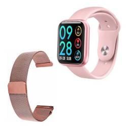 Relogio Inteligente Smartwatch P80 Com Duas Pulseiras