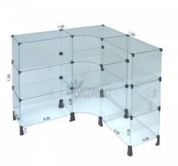 Título do anúncio: Balcão em L de vidro temperado 1,00 x 1,00 R$650,00