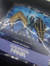 Broche Aquaman Pin Bottons Colecionador Cinemark