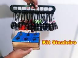Kit cheirinhos para carro sinaleiro 60 unidades + grade + caixa de amostra grátis