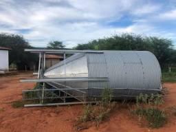 Silo metalico para grãos e ração - 22 toneladas
