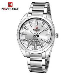 Título do anúncio: Naviforce, Autêntico Relógio Quartz Masculino Prata.