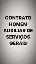 Título do anúncio: Homem auxiliar de serviços gerais