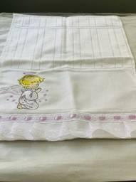Kit 4 toalhas de mão bordada