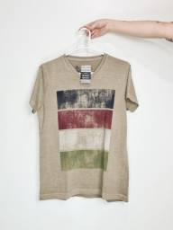 Camiseta Militar Estampa Neutra