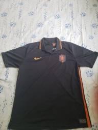 Título do anúncio: Camisa Seleção Holanda Away 20/21 s/n° Torcedor Nike Masculina - Preto+Laranja