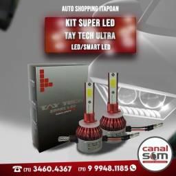 Título do anúncio: Kit Super Led Tay Tech Ultra Led/Smart Led ,Instalação Grátis Canal Som