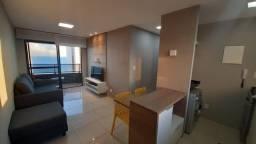 EC- apartamento 55 metros, ,02 quartos, mobiliado, andar alto, predi novo, 50m do mar