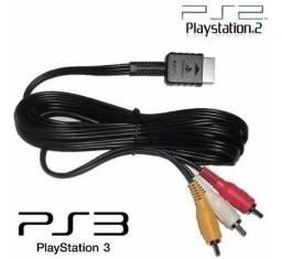 Cabo Av Áudio Vídeo Ps1 Ps2 Playstation 2 Tv Lcd E Tubo