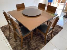 Título do anúncio: Mesa de jantar com centro giratório - ENTREGA GRATIS - *