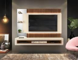 Título do anúncio: Painel Suspenso Retti com Fita de LED p/ TV até 60' 100% MDF - Entrega Grátis