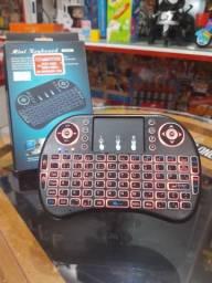 Mini teclado e Controle de s/ fio  touch com Led PC, Note, Gamer e Tv Smart