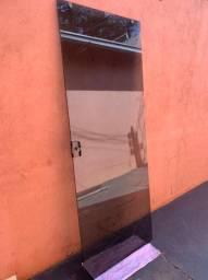Porta de Vidro Fume 205x80