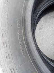 2 pneus aro 14 900 km rodados
