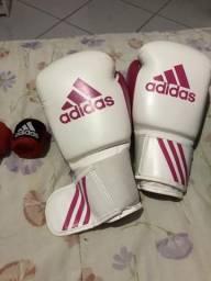 Luva Adidas boxe, muay thai + bandagem Adidas