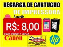 Recarga de Cartuchos / Canon - HP