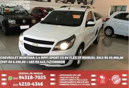 Chevrolet Montana 1.4 Mpfi Sport Cs 8v Flex 2p Manual 2013 R$ 20.900,00 33000KM Branco - 2013