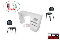 Mesa Manicure Unha de Gel + 2 Cadeiras + Brinde Pronta Entrega