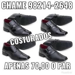 Sapatos sociais costurados de qualidade