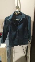 Camisa azul social