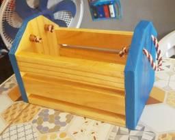 Mine caixote de madeira
