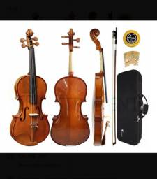 Kit Violino Eagle Ve441 4/4 + Case Arco Breu Corda Cavalete