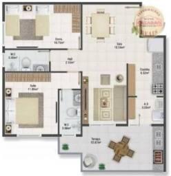 Apartamento com 2 dormitórios à venda, 77 m² por R$ 419.958 - Maracanã - Praia Grande