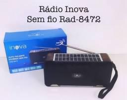 Rádio bluetooth inova Fm, portátil, cartão de memória, usb