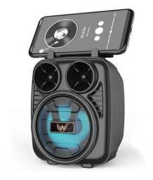 Caixa De Som Bluetooth, Pendrive Com Led Radio Fm cartão de memória