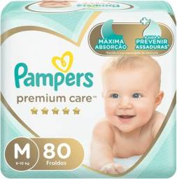 Título do anúncio: Fralda Pampers Premium Care Jumbo, M,=80 Unidades e G=68 Unidades