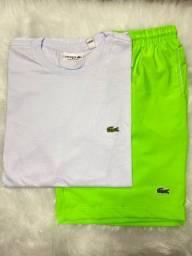 Título do anúncio: Kit Bermuda elastano + Camiseta com crocodilo Bordado