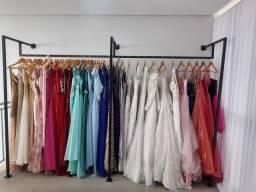 Estoque completo de vestidos de festa,noiva,ternos,pajem,damas e debutantes