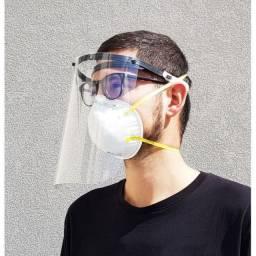 Protetor facial face shield viseira protetora transparente