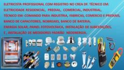Título do anúncio: Eletricista profissional com registro no CREA df. Residencial, predial e comercial .