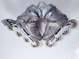 Patins Rolerblade Oxer Abec 7 - Aluminium + Protetor de pulso