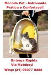 Mochila de Passeio de Cães e Gatos (Conforte e Lazer) - Frete Grátis!