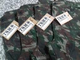 Calça tática camuflada masculina em tecido Rip Stop Profissional. (Maringá) (Sarandi)