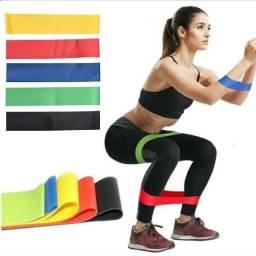 Título do anúncio: Kit 5 Faixas Elásticas band fitness Yoga exercícios em casa