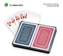 2 Baralhos Royal.zrg 100% Plástico Prova D'água 108 Cartas Estojo Poker