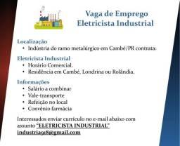 Título do anúncio: vagas de emprego- Eletricista industrial