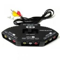 Título do anúncio: Chaveador AV/RCA Seletor 1 output 3 input Tv Ps3 Dvd kp-3453