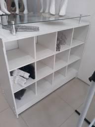 Título do anúncio: Balcão Colméia C/ Vidro Branco