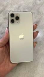 Título do anúncio: Iphone 11 Pro Silver 64gb/ aceito troca no 7 ou superior+volta.