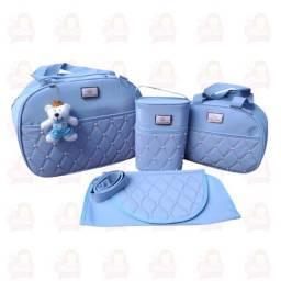 Título do anúncio: Bolsa Maternidade kit com 4 peças - Azul