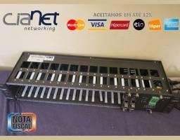 Título do anúncio: Rack Conversor de Mídia da Cianet (Fibra Ótica x Rede) Fonte+2 Placas, Noviss, Garantia