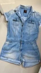 Macaquinho jeans triton